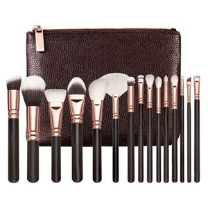 2020 15 Pcs Professional Makeup Brushes Set Comestic Powder Foundation Blush Eyeshadow Eyeliner Lip Make up Brush Tools with Bag
