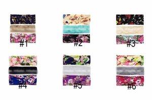 Bandeaux bébé fille ensemble Turbon Noeud Bow Bandeaux enfants Accessoires de cheveux tresse dentelle bande de lapin Coton Floral Imprimer chapellerie 3pcs / ensemble