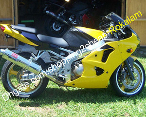 Para kawasaki carenado ninja zx6r zx-6r zx 6r 98 99 1998 1999 Motorbike Amarillo Bodywork Aftermarket Kit Parts