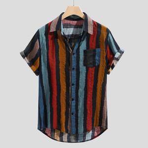 Abbigliamento Camicie Casual banda del collare Camicia Uomo Cotone Designer camice di marca Slim Fit uomo manica corta uomo rosso di estate degli uomini
