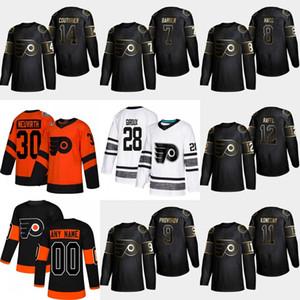 14 Sean Couturier 2019 Golden Edition Flyers de Philadelphie 12 Michael Raffl Travis Konecny Ivan Provorov Maillot Robert Hagg Bill Barber