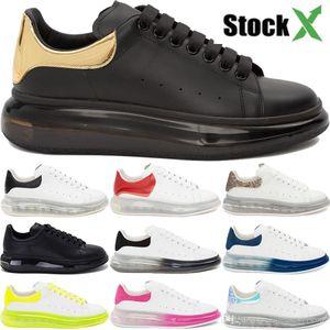 2020 Luxury genuine leather platform Crystal Sole designer shoes men women triple black white volt metallic gold fashion casual sneakers