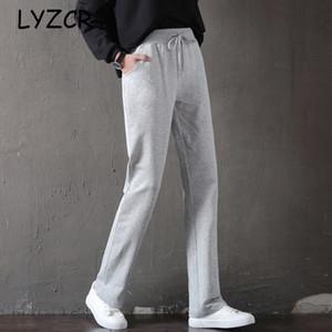 Pantaloni Harem dritti Lyzcr Donna Casual pantaloni larghi Plus Size Summer Cotton Pantaloni sportivi da donna sportivi da donna