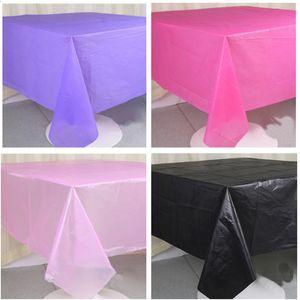 Monouso Pure Color Tovaglia 137 * 183 centimetri Solid Color Table Cloth festa di compleanno decorazione plastica di cerimonia nuziale Tovaglie Natale BH3246 TQQ