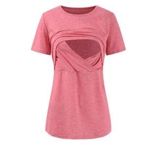 col de chemise infirmière femme enceinte courte confort rond manches détente dessus allaitement de gestation