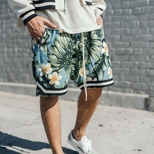 Fog mens designer shorts Fear Of God Justin Bieber Same paragraph Basketball Shorts Hawaii Sandy Beach Pants Leisure Time beach shorts