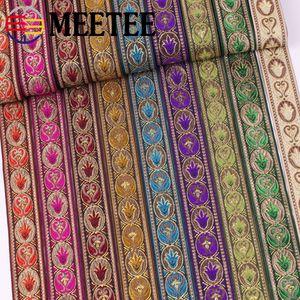 Colore del pizzo Meetee Jacquard Ribbon National Wind Jacquard Ribbon Garment Decorare Fai da te cucito Accessori Abbigliamento ZK009
