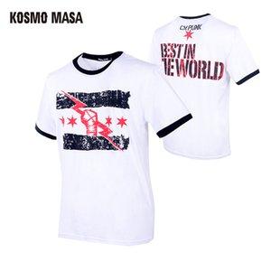 Cheap -Shirts KOSMO MASA Wrestling T-shirts Cotton T Shirt Men Cool Summer Funny Print Tshirt For Men 2019 Casual Short Sleeve