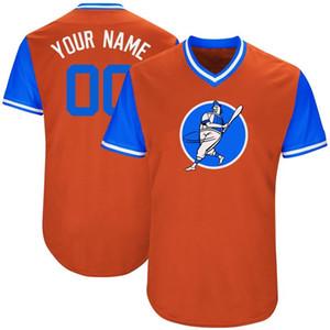 20 21 personnalisés Hommes Maillots Baseball Tout nom Un nombre quelconque Cousu Broderie personnalisée Shirts Personnalisé Cheap Boutique en ligne B019