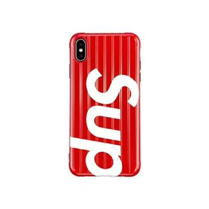 19ss designer de moda caso de telefone para iphonex / xs xr xsmax iphone7 / 8 plus iphone7 / 8 6/6 s 6/6 pçs mala popular estilo do telefone case vermelho preto