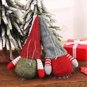 Natale Handmade Gnome svedese Scandinavian Tomte di Santa Nisse Nordic peluche Tabella Ornamento Xmas Tree Decorations ZZA1440