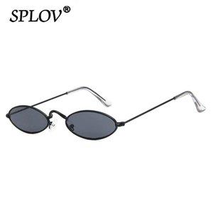Retro piccolo ovale Occhiali da sole donne degli uomini SteamPunk Vintage vetri di Sun Street Fashion Eyewear elegante tonalità UV400