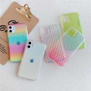 Case antichocs coloré de téléphone pour iPhone 11 Pro Max XR XS 7 8 Plus arc souple TPU dur cas