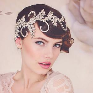Vintage Tiara Handmade Crown Klarem Kristall Braut Haarschmuck Stirnband Frauen Hochzeit Haarschmuck Kopfschmuck Haar Reben C19041101