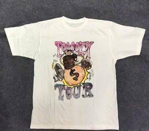 2019 del progettista ASAP ROCKY Mens Maglietta di estate di stile Casual girocollo Manica Corta Tee Per Gli Uomini E Le Donne Formato asiatico S-XL commercio all'ingrosso