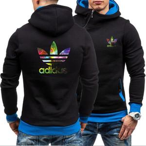 핫 새로운 디자이너 럭셔리 남성 여성 까마귀 인쇄 adidas 브랜드 후드 스웨터 코트 스포츠 후드 티 캐주얼 셔츠 스포츠웨어