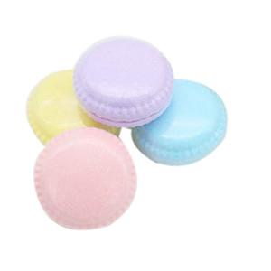 Bombes baignant Macaron Gâteau Huile Essentielle Bain moussant sel balle aromathérapie Baignoire Explosion Boule 4Pcs (Multicolor) Autre Bain Toilette Sup