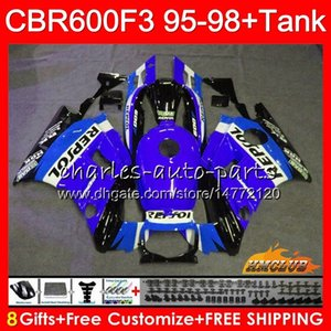 + Tank für Honda CBR 600F3 600cc Repsol Blue CBR 600 FS CBR600Fs 41HC.162 CBR600 F3 CBR600F3 1995 1996 1997 1998 F3 95 96 97 98 FAIRING KIT