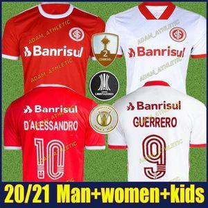 20/21 Sc International D Alessandro Camisas de futebol Kit Kids Edenilson V.Cuesta Guerrero Futebol Uniforme Camisa Internacional 2020 Feminina