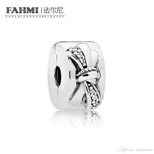 FAHMI 100% 925 Sterling Silver 1:1 Original 797304CZ Authentic Temperament Fashion Glamour Retro Safety Buckle Wedding Women Jewelry