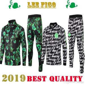 La mejor calidad 2019 Nacional de Nigeria, traje de entrenamiento de manga larga, fútbol, fútbol, ropa deportiva, conjunto de entrenamiento