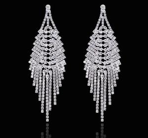 2020 Популярные Длинные серьги Свадебные украшения кисточкой серьги Rhinestone горячий продавая самый дешевый пирсинг серьги Женщины Аксессуары