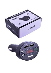 CAR B6 Wireless FM Transmitter Modulator Bluetooth Car Kit Charger AUX Hands Free Music Mini MP3 Player Car Charge With Retail Box