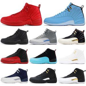 Venta caliente Clásico 12 12s zapatos de baloncesto Entrenador para hombre Deportes atléticos Zapatillas Gamma Azul Paquete de graduación al aire libre Tamaño 7-13 Envío de la gota