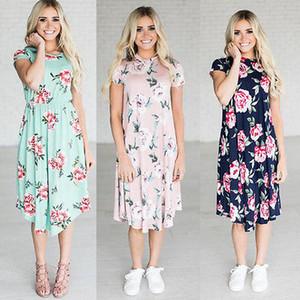 2017 새로운 여름 여성 꽃 드레스 파티 비치 미디 드레스 sundress에 여성 의류