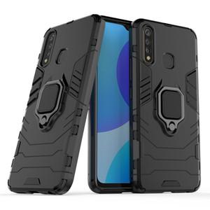 Für Huawei Honor V30 Pro V20 V10-Fall-Handy-Fall-360 Ring Ständer Auto Magnetfuß Abdeckungs-Fall des neuen Entwurfs Black Panther