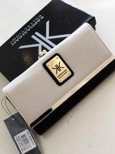 Venta caliente KK Wallet Diseño Largo Carteras de mujer Marca de moda Cuero PU Kim Kardashian 2020