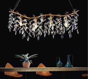 Free shipping  gold crystal chandelier lamp home decoration lighting lustre cristal hanging chandeliers bar light LLFA