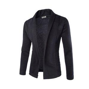 Мужские свитера мужские свитер кардиган простые V-образные вырезывающие пальто мужской сплошной цвет с длинным рукавом тонкие кардиганы верхняя одежда
