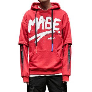 Plus Size Fashion High Street Hoodies Men Women Letter Print Hip Hop Pollover Hooded Sweatshirts Lovers Long Sleeved Tshirt Hoodies Tops