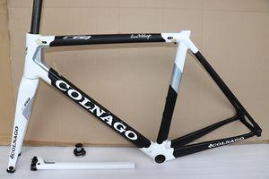 Nouveau Noir Blanc Colnago C64 cadre de route en carbone T1100 plein vélo de carbone Frameset plus de 20 couleurs
