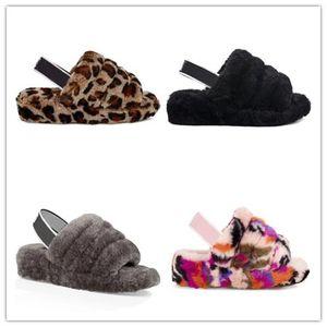 Nueva llegada Australia WGG botas de invierno W Pelusa Sí Motlee leopardo Slide mujeres de los zapatos de señora Girl Seashell de carbón Lantana Multi nieve