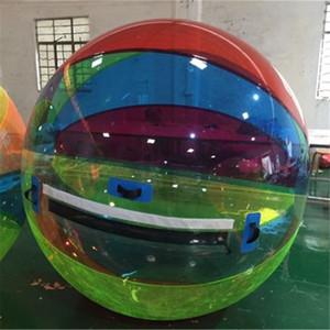 TPU 1,0 milímetros 2m esfera de passeio da água inflável com Zipper Hamster Humanos Balls Pé Piscina Equipamentos jogo de dança Rolo Zorb bola
