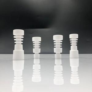 14 mm 18 mm sin hogar 4 en 1 clavos de cerámica con articulación hembra-macho Clavo de cerámica sin hogar para tubo de agua de vidrio accesorios para fumar bong
