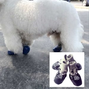4pcs lot Cotton Rubber Pet Dog Shoes Waterproof Non-slip Dog Rain Snow Boots Socks Shoes For Puppy Small Cats Dogs