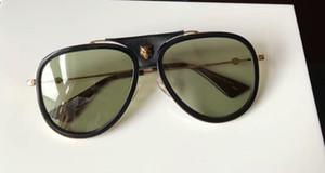 Gafas de sol de piloto de lujo 0062S Clásico dorado / verde Gafas de sol de lujo para hombre Gafas de sol Gafas de sol de diseñador Gafas vintage Nuevo con caja