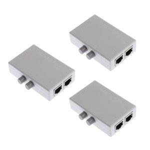 3adet 2 Liman Ağ Paylaşımı Anahtarı Kutu 2in1 / 1In2 RJ45 Ağ / Ethernet Mini