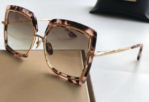 Tortuga / gafas de sol cuadradas de oro lentes marrón de la pendiente 503 vidrios de Sun de las gafas de Eyewear nuevo con la caja