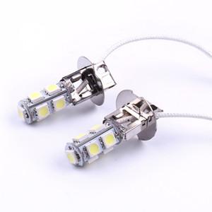 1 par H3 453 9SMD LED 12V Luz principal lâmpadas de carro da frente Faróis Nevoeiro lâmpadas Para Car Auto Super Branco Car-styling