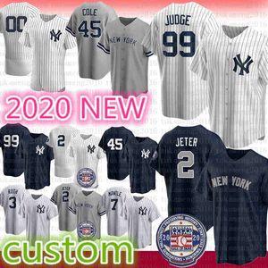 11 Brett Gardner 54 Aroldis Chapman Aaron Hicks Alex Rodriguez di New York 2020 di baseball Jersey Aaron Giudice Gerrit Cole Derek Jeter Mattingly 2