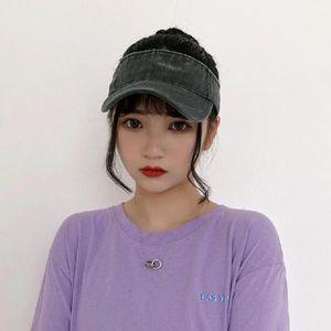 Sun Hat Female Summer Sun Hat Retro Face Cover All-match Empty Top Hat Student Travel Cap Male Sun Tide