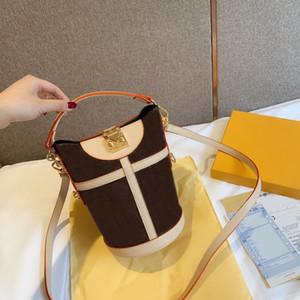 Tasarımcı çanta moda bayan omuz çantası çapraz paket yüksek kaliteli deri lüks kova çanta L çiçek yeni ücretsiz gönderim
