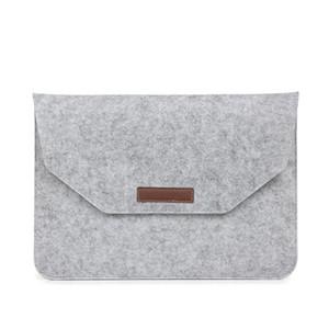 Bolso de la manga del cuaderno de fieltro inteligente teléfono móvil cubierta protectora hombres y mujeres bolsos de almacenamiento portátil gris negro 17ok C1