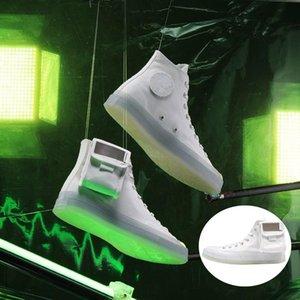 Covase X Lay Zhang lumineux Chaussures Casual 3M réfléchissant Démontable cristal Hoop petite boucle Pocket Designer Sport Sneaker 31