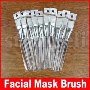 Kit de escova de máscara facial Pincéis de maquiagem Rosto Cuidados com a pele Máscaras Aplicador Cosméticos Casa DIY Ferramentas de máscara de olho facial Alça clara 15,5 cm