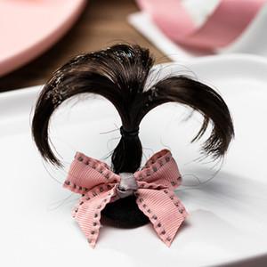 Verano de los bebés lindo pelo princesa tela escocesa Pin de la mariposa del Bowknot del cordón Headwear de Corea del estilo de pelo del tocado del clip Accesorios